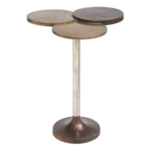 Zuo Modern Dundee Side Table - 18-in x 25-in - Metal - Cooper/Brown