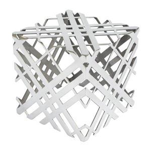 Zuo Modern Carlisle 14-in x 14-in  Silver Metal Side Table