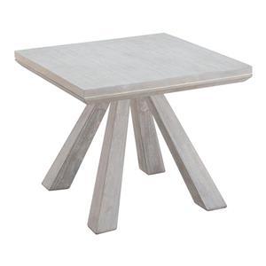 Table d'appoint en bois Beaumont de Zuo Modern, 14 po x 14 po, gris