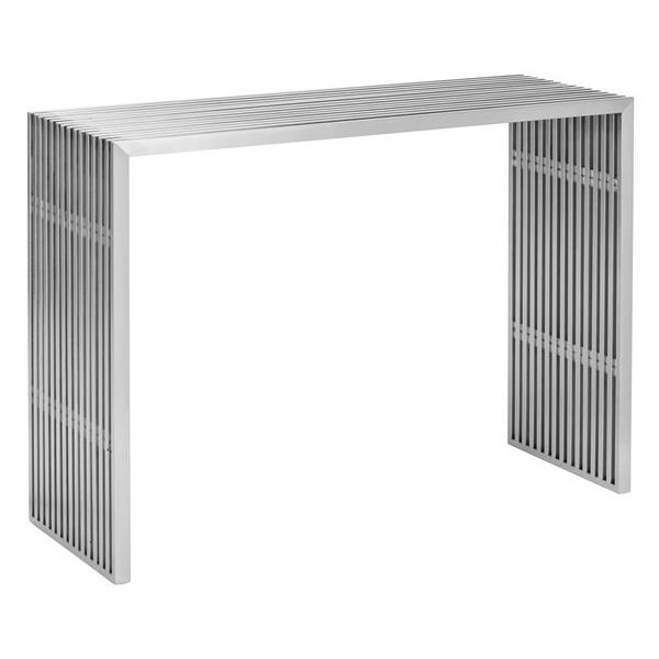 Zuo Modern Novel Console Table - 42.8-in x 31.8-in - Stainless Steel