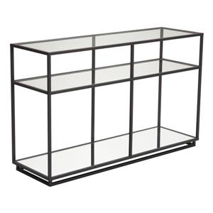 Zuo Modern Kure Coffe Table - 48-in x 30-in - Tempered Glass - Black Frame