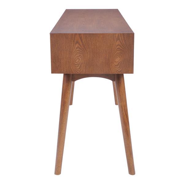 Table console Design de Zuo Modern, 47 po x 29,7 po, bois brun