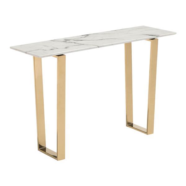 """Table console Atlas, 47,2"""" x 30,3"""", faux marbre, gris"""