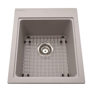 Kindred Franke 16.75-in X 20.50-in Grey Granite Single Sink