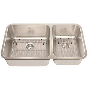 Kindred Stainless Steel Franke Double Sink 32.88-in X 18.75-in