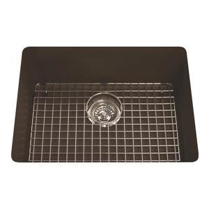 Kindred Franke 23-in X 18.13-in Brown Granite Single Sink