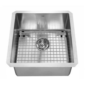 Kindred 17-in x 17-in Stainless Steel Single Sink