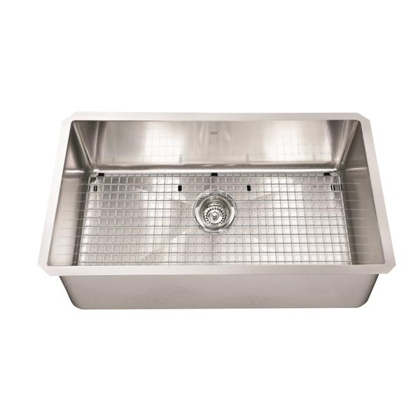 Kindred 29.13-in x 18-in Stainless Steel Single Sink