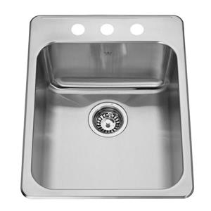 Kindred 17.25-in Stainless Steel Single Sink