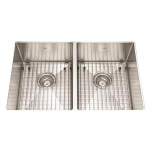 Kindred 29-in x 18-in Stainless Steel Double Sink