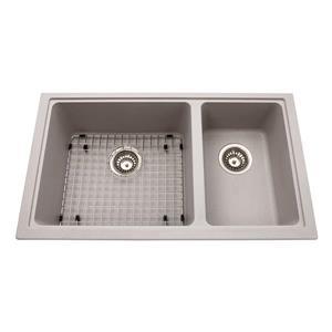 Kindred Granite Grey Franke Double Sink 31.56-in X 18.13-in