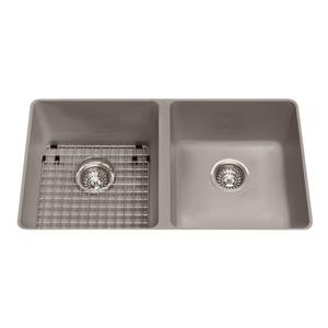 Kindred Gray Franke Double Sink 31.56-in X 20.5-in