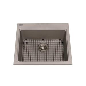 Kindred Franke 23.50-in X 20.50-in Grey Granite Single Sink