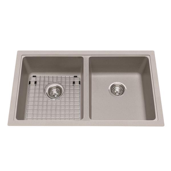 Kindred Granite Gray Franke Double Sink 33-in X 19.38-in