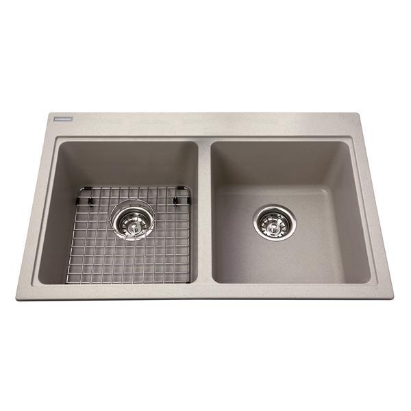 Kindred Granite Gray Franke Double Sink 31.56-in X 20.5-in