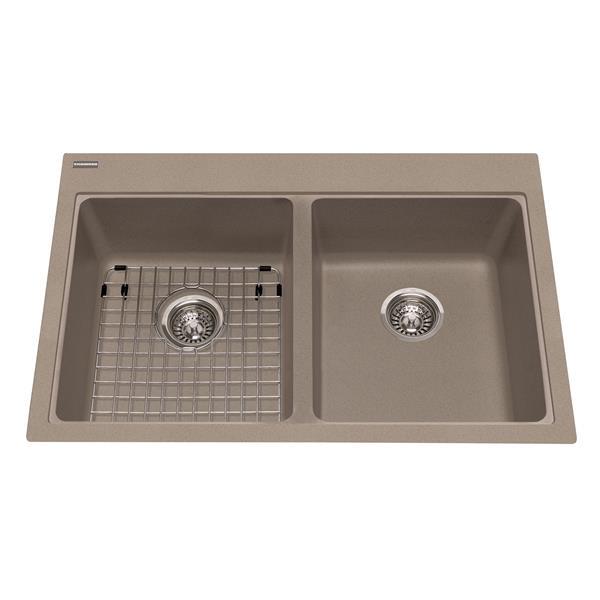 Kindred Granite Gray Franke Double Sink 33-in