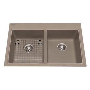 Kindred Granite Gray Franke Double Sink 33-in