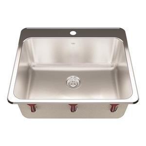 Kindred 25.25-in x 22-in Stainless Steel Single Sink