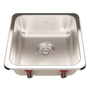 Kindred 16.13-in x 16.13-in Stainless Steel Single Sink
