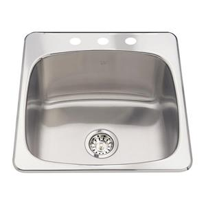 Kindred 20-in x 20.5-in Stainless Steel Sink