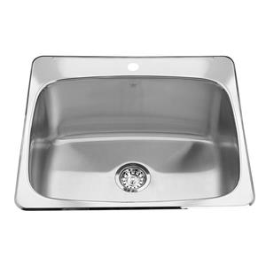 Kindred 25.63-in x 22-in Stainless Steel Single Sink