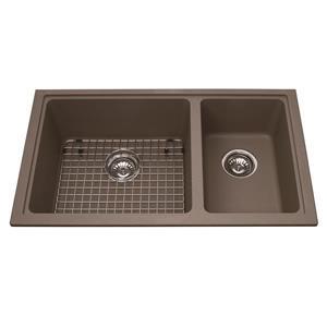 Kindred Granite Brown Franke Double Sink 18.13-in