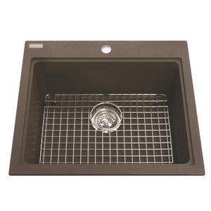 Kindred Franke 20.13-in X 20.56-in Brown Granite Single Sink