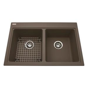 Kindred Granite Cappuccino Franke Double Sink 31.56-in X 20.5-in