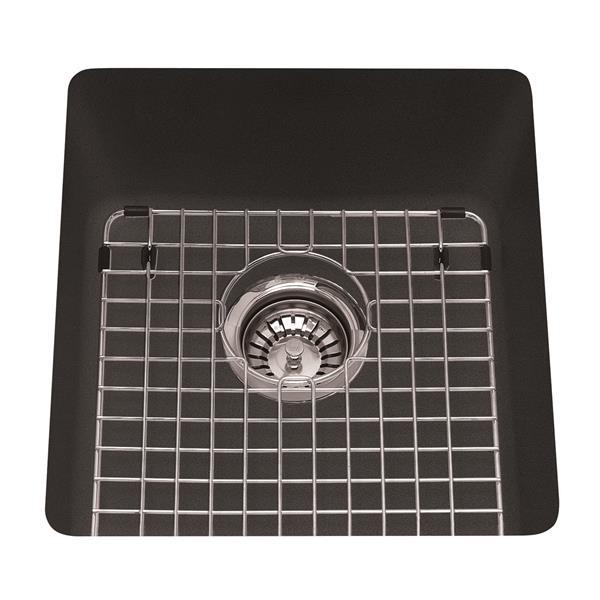 Kindred Franke 16.75-in X 18.13-in Black Granite Single Sink
