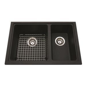 Kindred Granite Brown Franke Double Sink 27.56-in X 18.13-in