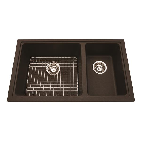 Kindred Granite Cappuccino Franke Double Sink 18.13-in