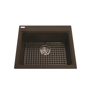Kindred Franke 23.50-in X 20.50-in Brown Granite Single Sink
