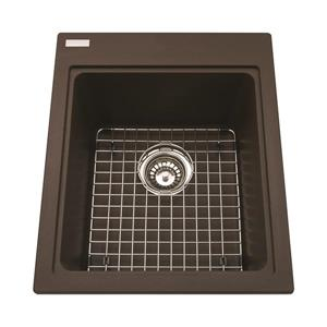 Kindred Franke 16.75-in X 20.50-in Brown Granite Single Sink