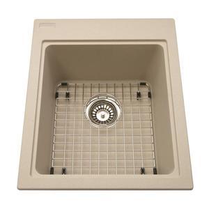 Kindred Franke 16.75-in X 20.50-in Champagne Granite Single Sink