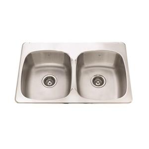 Kindred 32-in Stainless Steel Double Sink