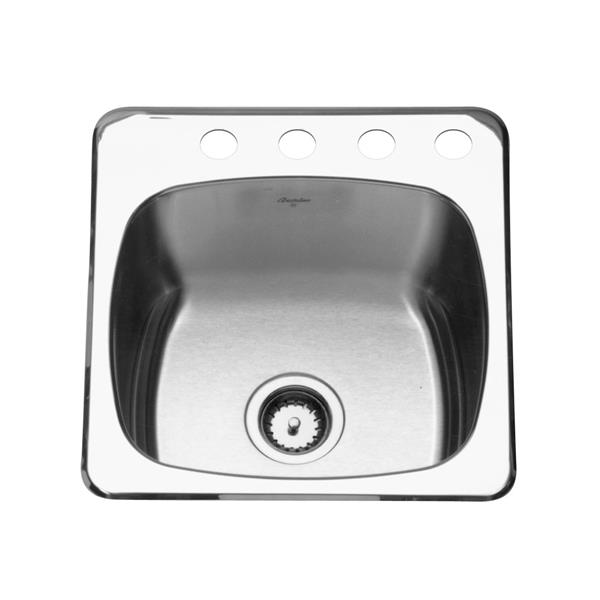 Kindred Reginox Topmount 20-in x 20.5 in Stainless Steel Silver Single Kitchen Sink
