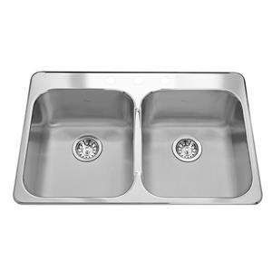 Kindred Reginox 31.25-in x 20.5-in Stainless Steel Silver Kitchen Sink