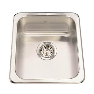Kindred 14.13-in x 16.13-in Stainless Steel Single Sink
