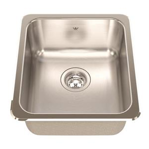 Kindred 16.13-in x 18.13-in Stainless Steel Single Sink