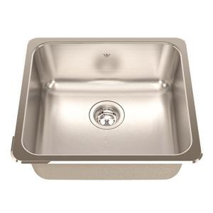 Kindred 20.13-in x 18.13-in Stainless Steel Single Sink