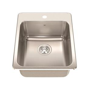 Kindred 17.25-in x 22-in Stainless Steel Single Sink