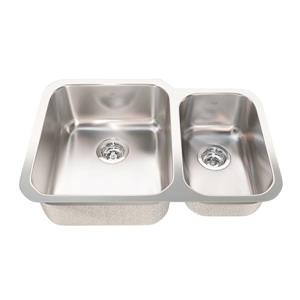 Kindred 28.88-in x 19.75-in Stainless Steel Double Sink