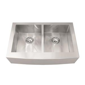 Kindred Stainless Steel Franke Double Sink 32.88-in X 20-in