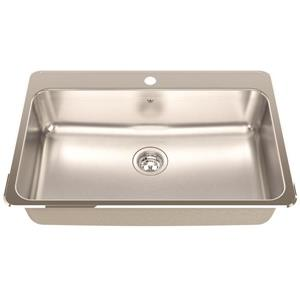 Kindred 31.25-in x 20.5-in Stainless Steel Single Sink