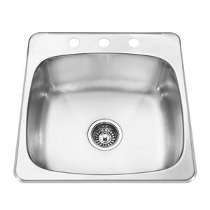 Kindred 20.50-in Stainless Steel Single Sink