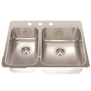 Kindred 20.56-in Stainless Steel Double Sink