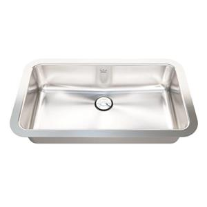 Kindred 19-in x 11-in  Stainless Steel Single Sink