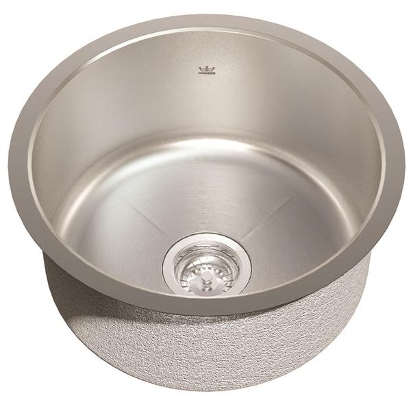Kindred 18.13-in 18.13-in Stainless Steel Single Sink