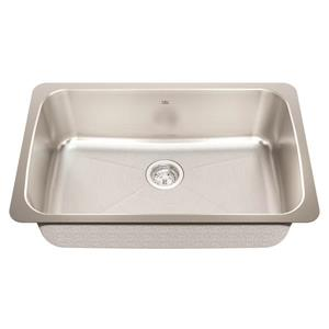 Kindred 30.13-in x 19.13-in Stainless Steel Single Sink
