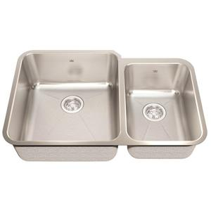 Kindred 32.88-in x 21.50-in Stainless Steel Double Sink